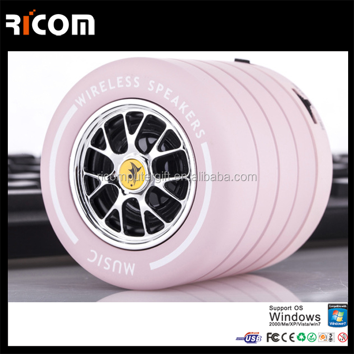New products 2017 innovative product Tire shape Mini bluetooth speaker, wireless bluetooth speaker for Outdoor