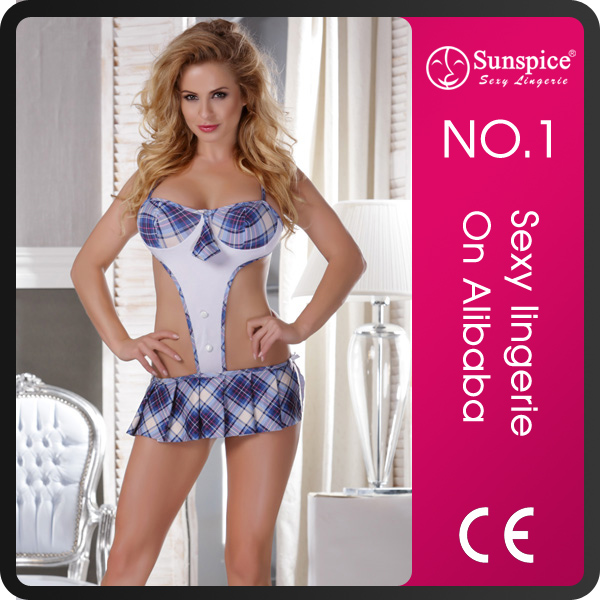 Sunspice china <strong>manufacture</strong> plump women sexy mature plus size lingerie school set