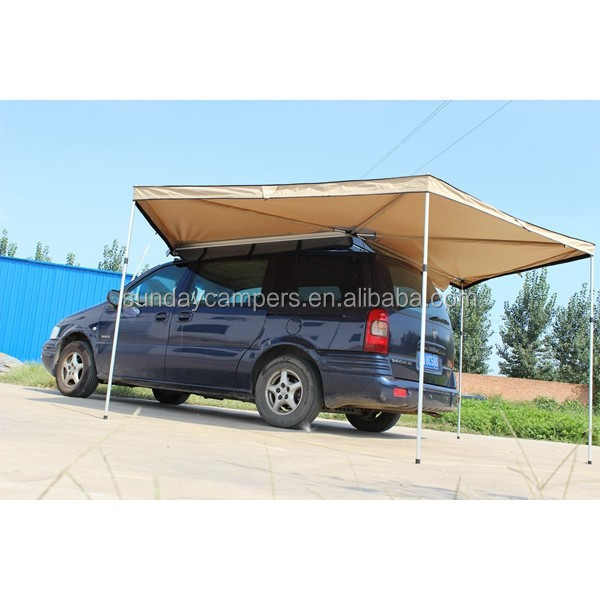 Mould&Mildew Proof off road trailer tent Poly cotton fabric Quik Open car roof rack awning parts for sale
