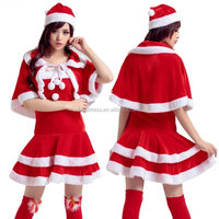 Sexy Santa Red White Christmas Xmas Costume Outfit Dress