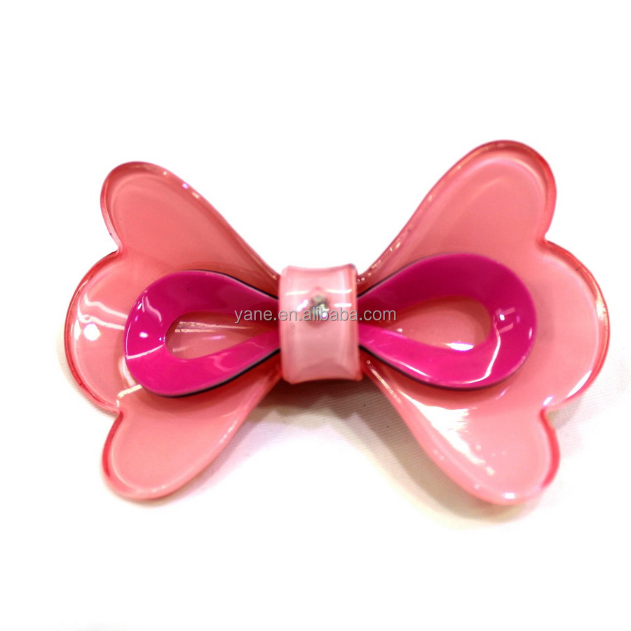 Fashion style cheap butterfly clear hair clips