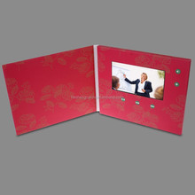 Custom video greeting card with 4.3 inch screen upload your custom 5 min video