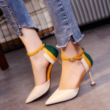 FZS-W11 Women ankle buckle strap sexy high heels fashion pointed toe zapatos para mujeres