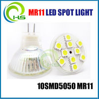 2014 hot sale 10 smd /cob IP44 dimmable GU10 MR11 LED Spot, 10smd 5050 led mr11 3w