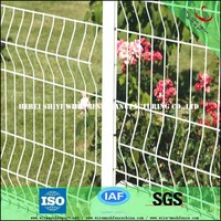 Small bending metal welded fences for gardens (Supplier)