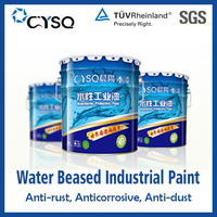 Water based stainless steel color coating