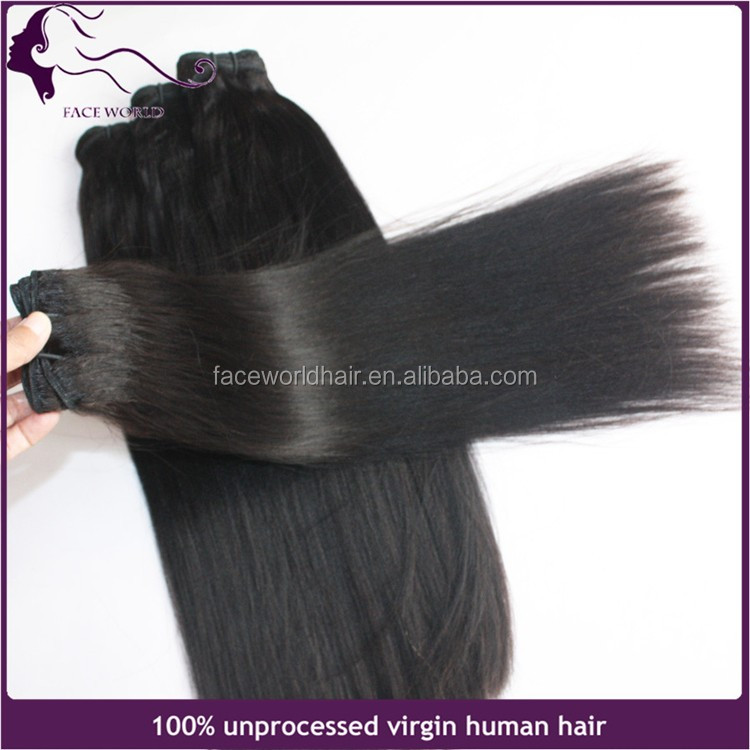 Natural color hair weaving for girls, yaki straight hair from china, chinese light yaki hair