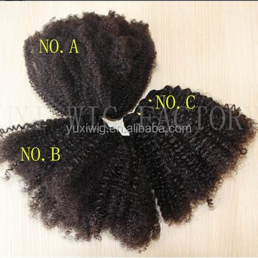 Afro Kinky Curly Virgin Human Hair extensions,Full Head Weft