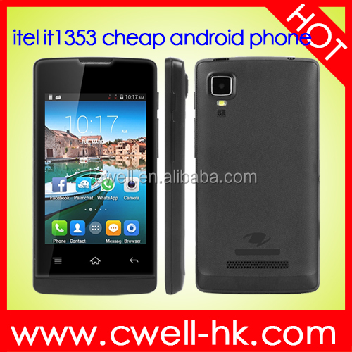 OEM Unlocked 3.5 Inch Touch Screen Low Price Android 2G Dual SIM Card Mobile Phone with WhatsApp itel it1353
