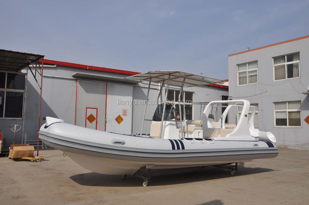 Liya 20ft foldable rigid inflatable boat rib boat for navy