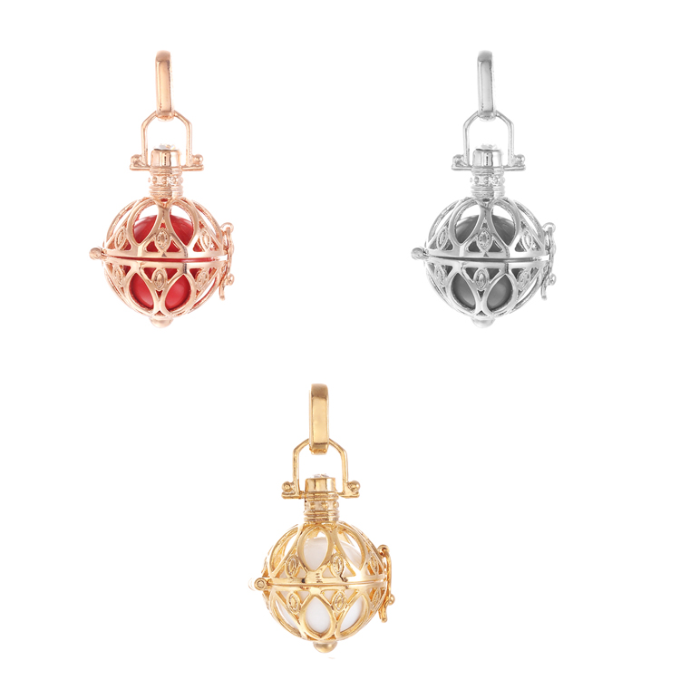 Pregnancy Cage Pendant Necklaces With Sound Bola H0004-SET