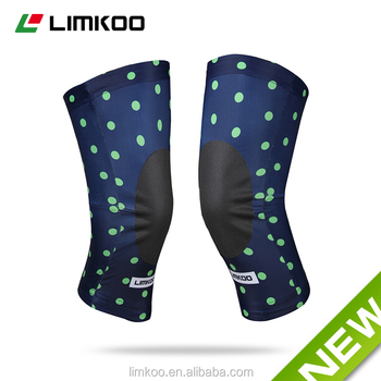 2016 Custom Sublimation Cycling Knee warmer with Anti drop paste