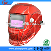 CE Approved Red Auto Welding Grinding Helmet with Spider net decal