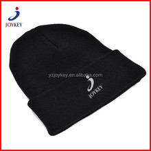 customized winter knitted black ski hat