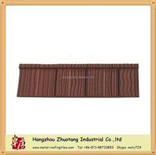 Made In China Wood Grain Sun Stone Coated Metal Roofing Tile