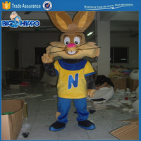 Brown bunny rabbit cocoa and morning cereal supermarket promotion professional high quality custom mascot costume