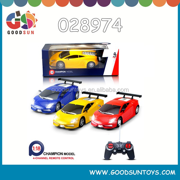 1/18 4 CH RC Car radio control toys Remote Control Car high speed car toys plastic toys with Rechargeable Battery