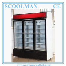 Upright 3 Glass Door Display Ice Cream Fridge
