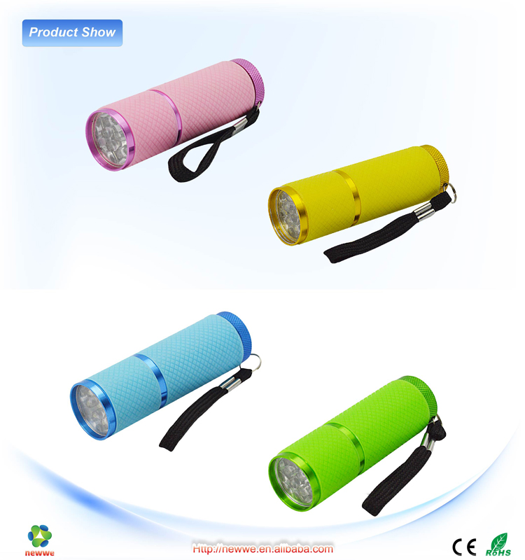 9 LED Flashlight AL Torch head Night Fishing Torch pocket intrinsically safe logo projection flashlight