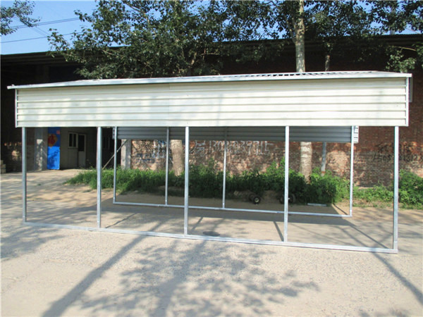 Plastic Bottle Carport : Steel car parking cover buy free standing covers
