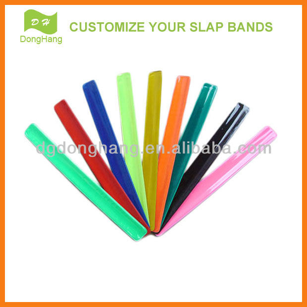 [High quality]Reflective pvc slap wristbands