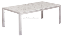 Home furniture marble top coffee table with stainless steel frame