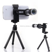 12x universal mobile phone zoom lens, adjustable zoom lens For samsung zoom lens