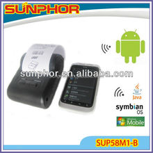 mini bluetooth mobile printer SUP58M1-LB for Android/Symbian/mobile phone/tablet PC
