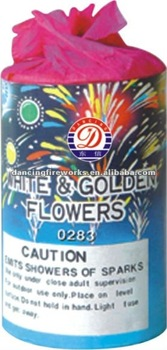 WHITE&GOLDEN FLOWERS FOUNTAINS FIREWORKS