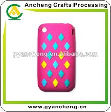 fashion jewelry Customs design silicone rubber mobile phone cover/case
