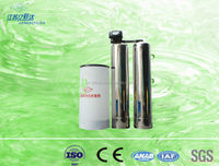 Double stainless steel tank and digital Fleck valve water softener