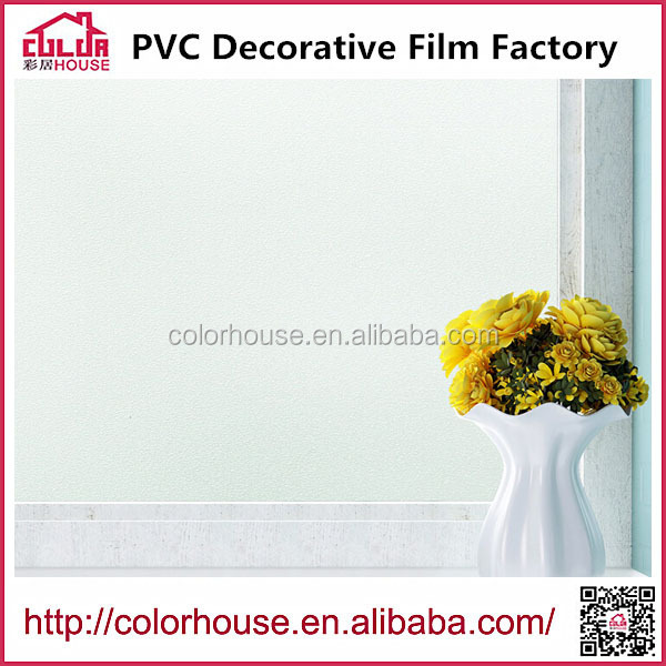 Removable static cling window film frosted white decorative window film 1.22m*50m