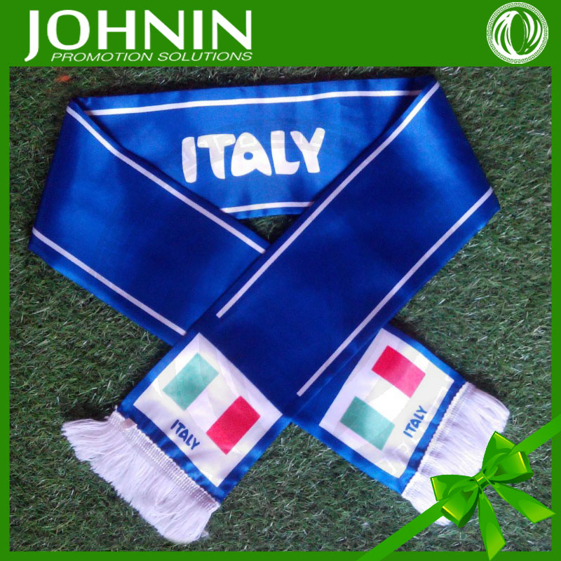 Wholesale Cheap Woven polyester Football Satin Fans Scarf