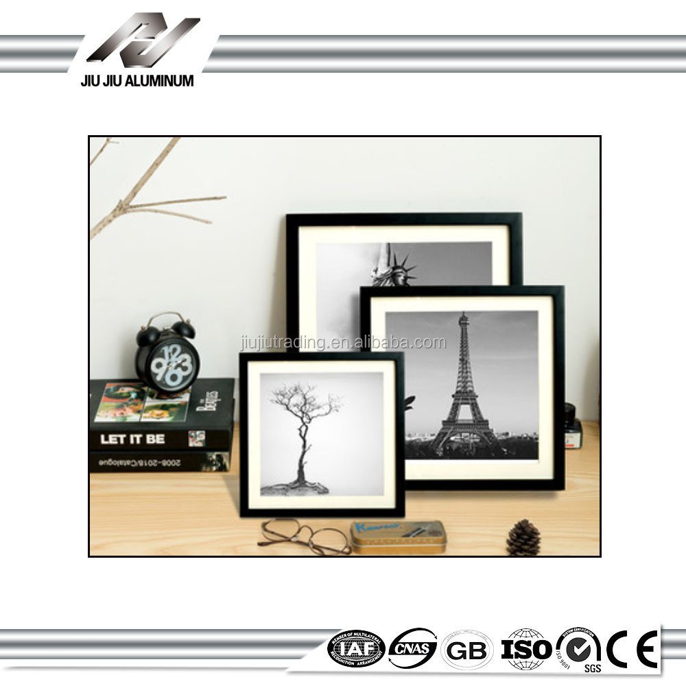 2017 latest a4 black hanging decorative metal picture foto frame