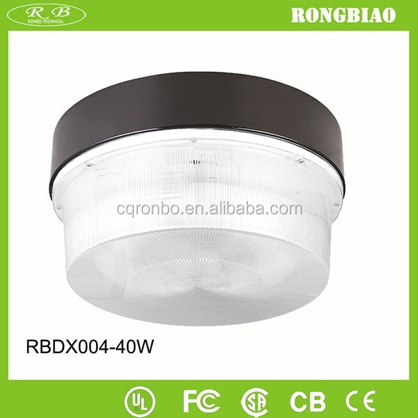 General Purpose Recessed 5000K 85-277V Polycarbonate Cover 40W Induction Round Plastic Ceiling Light Covers
