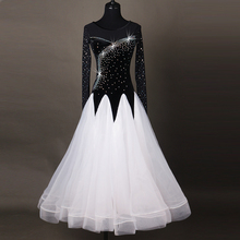 Gorgeous Ballroom Dress Women Kid's Plus Size Sexy Waltz Long Sleeves Performance Dancing Dresses Support Customization ZH4006