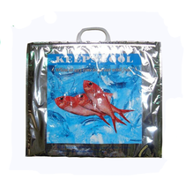 Factory custom made new style plastic fish portable cooler bags