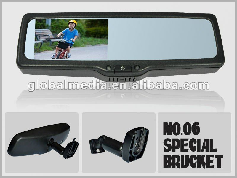 ,rear view mirror with bluetooth music supports SIRI voice control fo ipone 4s and A2DP