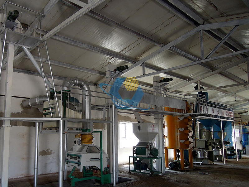 crude peanut oil refinery plant for edible oil
