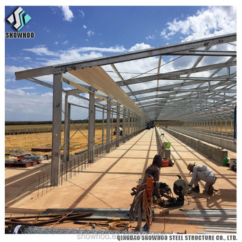 Light steel structure chicken farm building poultry barns shed for sale