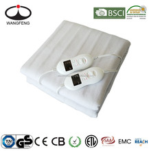 CE/GS/CB 8 Heat Settings Electric Blanket with timer off