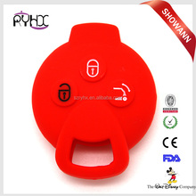 Silicone 3 button car remote key fob case for Mercedes-Benz silicone smart key cover