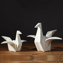 Small animal ceramic figurines wholesale origami crane sculpture