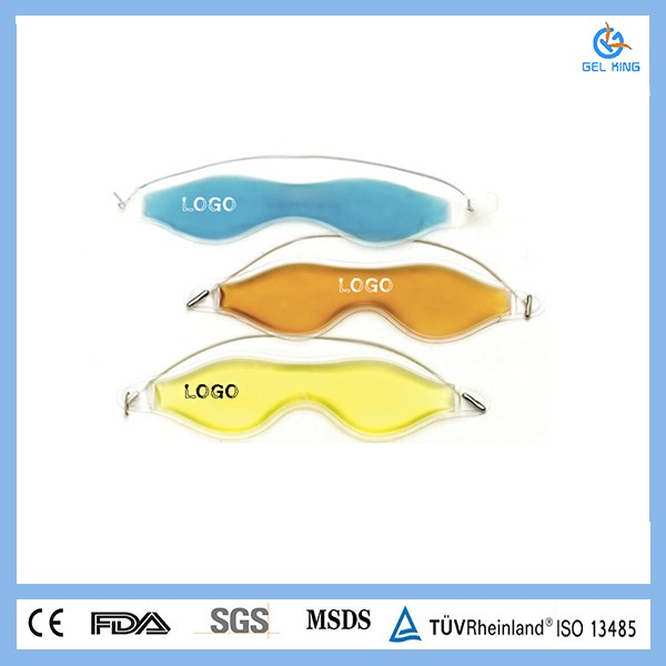 Eye strain cool gel eye cover TPU/ PVC pain killer tablets Physical cooling Gel Bead Eye Mask/custom printed eye mask
