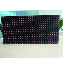 dip single color red semi-outdoor led screen module p10 for running message led display module