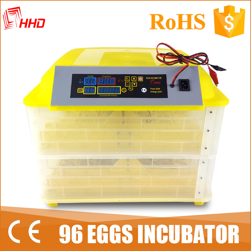 Best price cheap fertilized chicken egg incubator eggs for sale YZ-96A from Howard