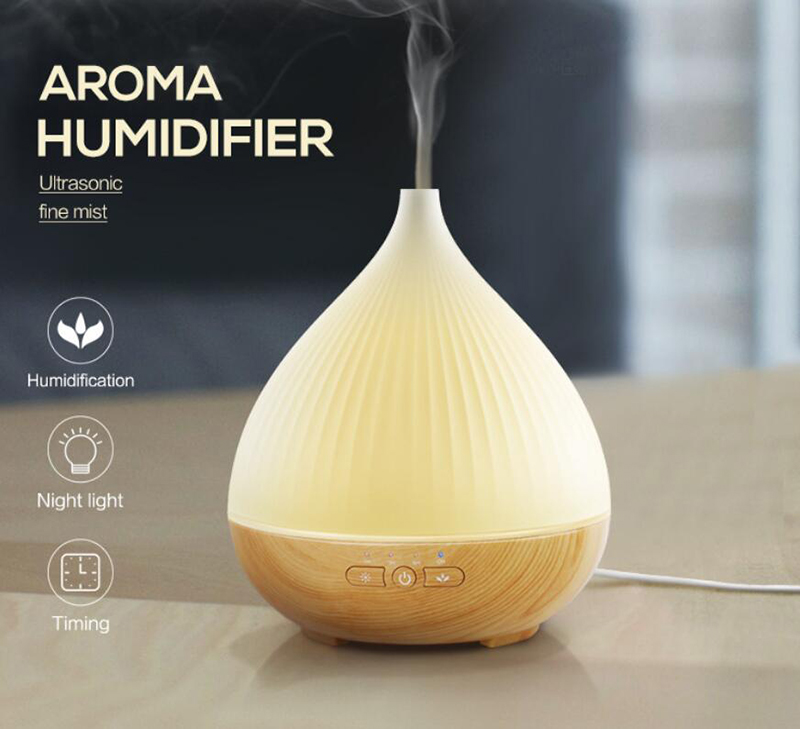 Campione gratuito wifi intelligente umidificatore ad ultrasuoni digitale 300 ml diffusore aroma umidificatore