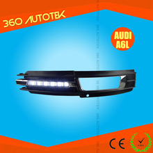 Top Quality Car DRL LED daytime running lights turn signal light for 09-11 Audi A6L drl led