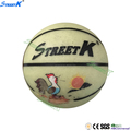 streetk brand custom logo size 7 basketball noctilucent rubber basketball ball