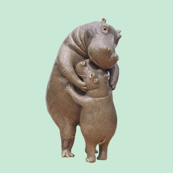 Quality Hippos The Hug Mother's Day Gift Sculpture